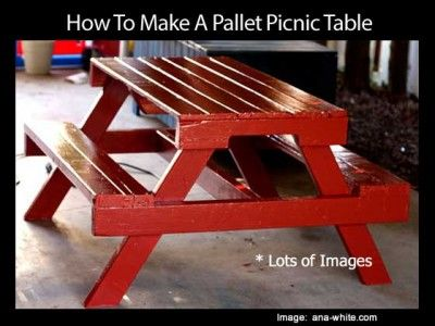 How To Make A Pallet Picnic Table