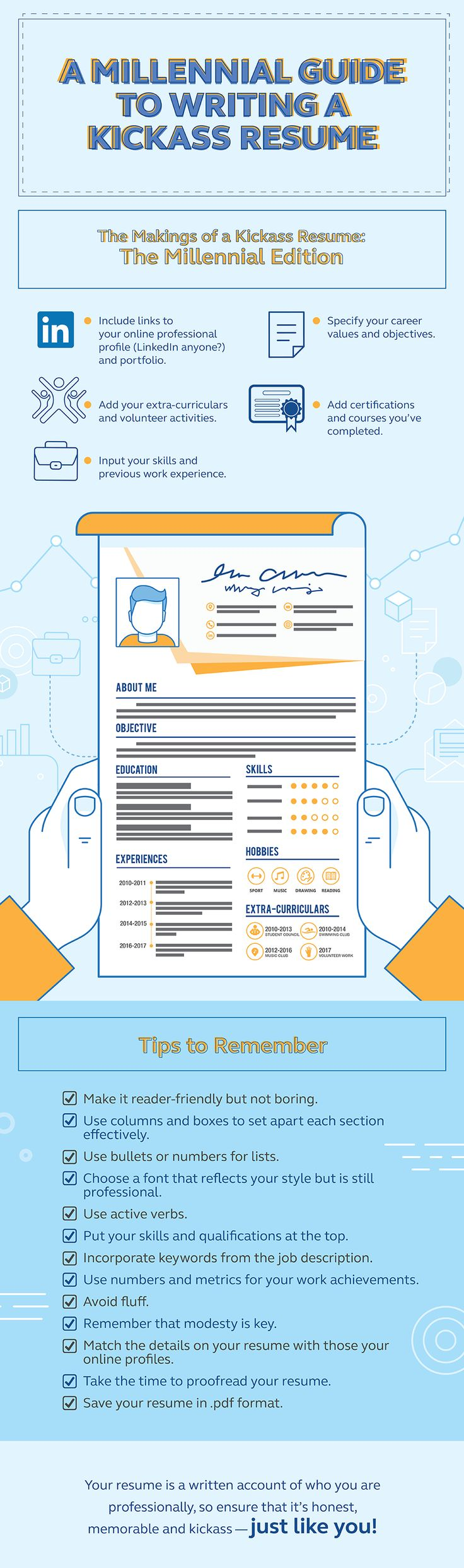 A Millennial Guide To Writing A Kickass Resume | Go! - Globe