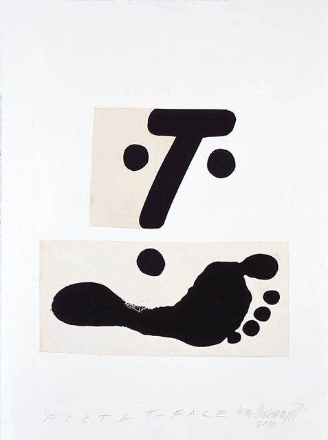 Ivan Chermayeff, Foot And T Face, 2000, Collage · Design GeschichteCollageIvan  Chermayeff
