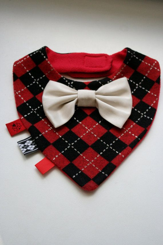 Baby dribble bib removable tie / bow tie, baby shower baptism christmas gift boy, infant, toddler on Etsy, $12.70