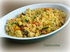 Cuscus con pollo y verduras al curry con Thermomix