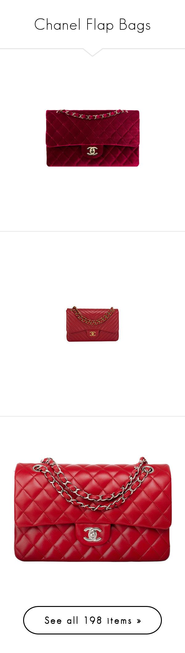 """Chanel Flap Bags"" by sakuragirl ❤ liked on Polyvore featuring bags, handbags, shoulder bags, chanel, purses, chanel shoulder bag, velvet purse, man shoulder bag, man bag and red hand bags"