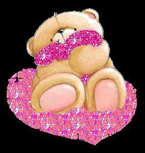 Osito tierno con Corazón Glitter.