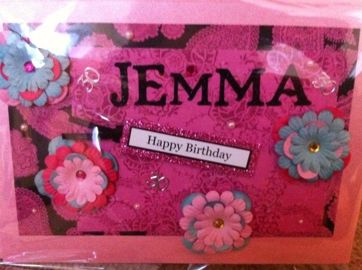 Floral, fun birthday card!