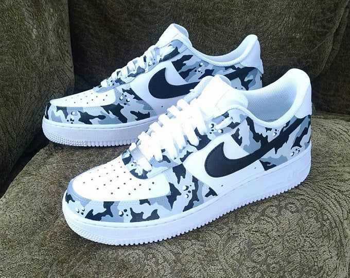 Custom Raiders Nike Air Force 1 Low Etsy With Images Nike