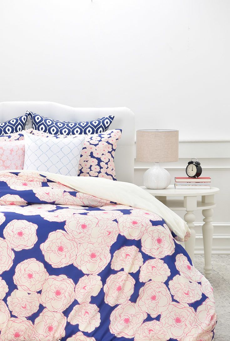 beautiful floral bedding by joy laforme floral in navy duvet cover deny designs home
