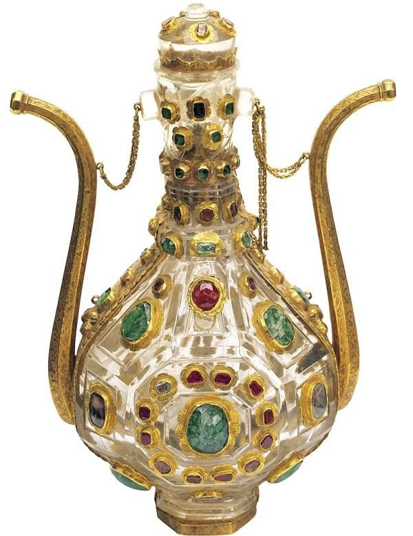 .Treasures of the Topkapi Palace, Treasure Jeweled Gold ewer 16th century Najaf