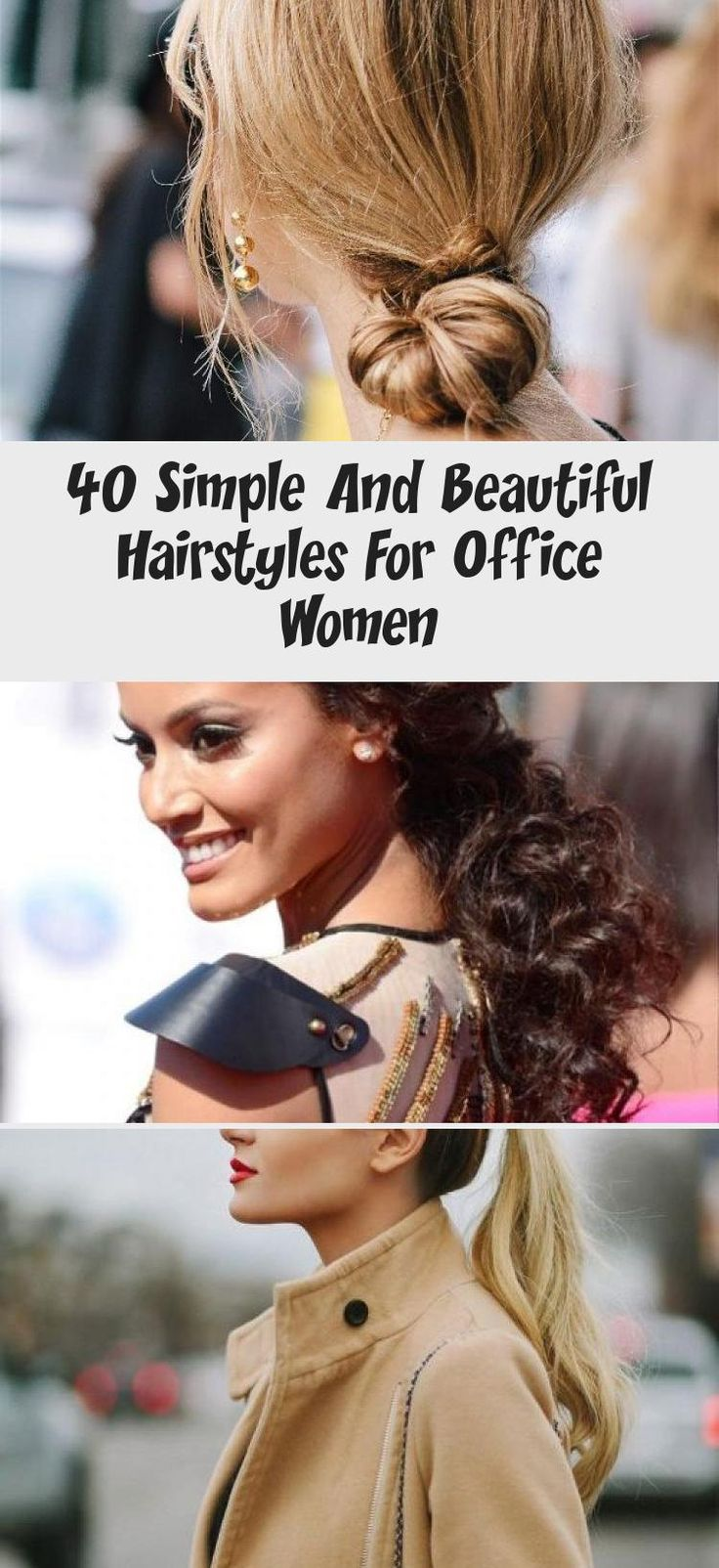 40 Simple And Beautiful Hairstyles For Office Women » EcstasyCoffee #summerhairstylesHaircuts #summerhairstylesTutorials #summerhairstylesIdeas #Coolsummerhairstyles #summerhairstyles2018