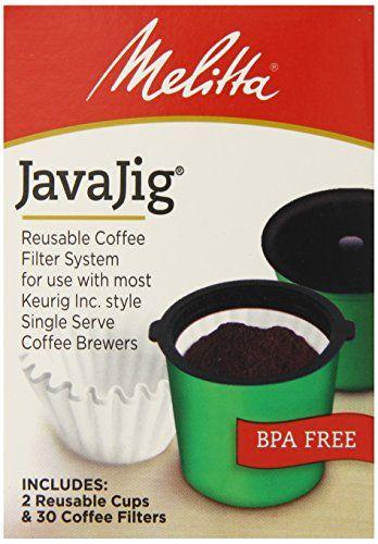 Melitta Java Jig, Reusable K-Cups for Keurig K-Cup Brewers, Uses Melitta Paper Coffee Filters,2 cups and 30 filters - http://teacoffeestore.com/melitta-java-jig-reusable-k-cups-for-keurig-k-cup-brewers-uses-melitta-paper-coffee-filters2-cups-and-30-filters/