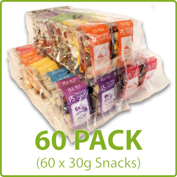 Proper Snacks 60Pack, yummy healthy convenient snacks