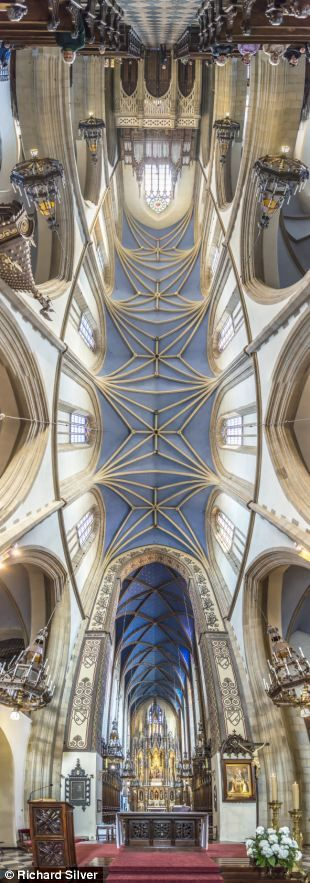 Shooting the vaults of heaven: Breathtaking panoramic pictures of the exquisite ceilings of churches across the globe  . Richard Silver from New York has created panoramic photos showcasing rich religious architecture across the world. He takes between six and 10 photographs which he expertly blends together in his studio using Photoshop.