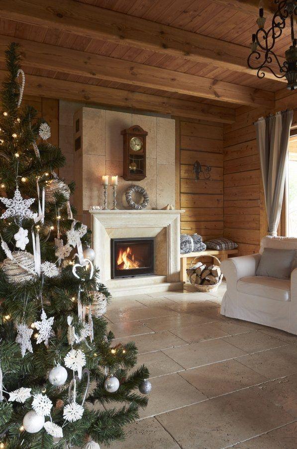 Boże Narodzenie w domu z bali