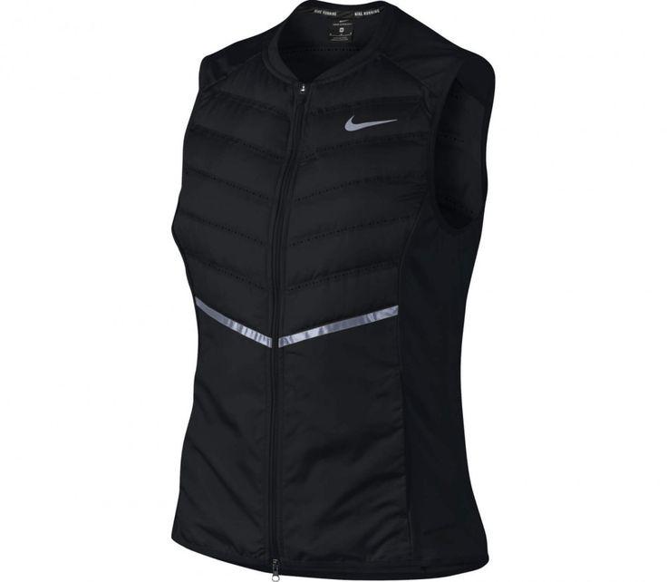 Nike - Aeroloft Dam rinnande vest (svart/lime)