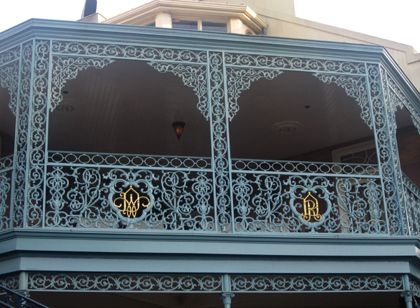 Look out for Walt and Roy Disney's initials, which are formed in the wrought-iron railing above the queue to the Pirates of the Caribbean.