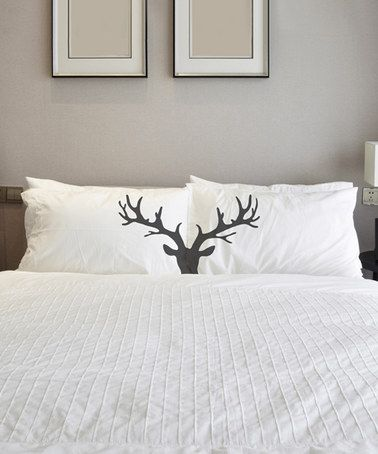 Another great find on #zulily! Buck Head Pillowcase - Set of Two #zulilyfinds