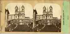 STEREO Furne Fils et H. Tournier, Rome L'église de la Trinité-des-Monts Circa 1870