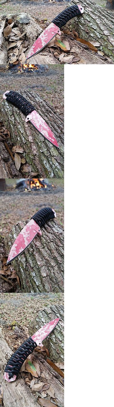 Other Hunting Knives and Tools 7306: Redemption Knives - Bushcraft Spearpoint Knife - S30v - Pink Urban Camo -> BUY IT NOW ONLY: $185 on eBay!