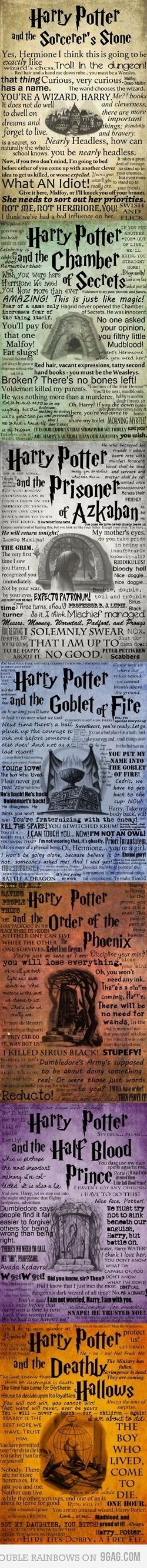 Harry Potter. The best quotes from each book.