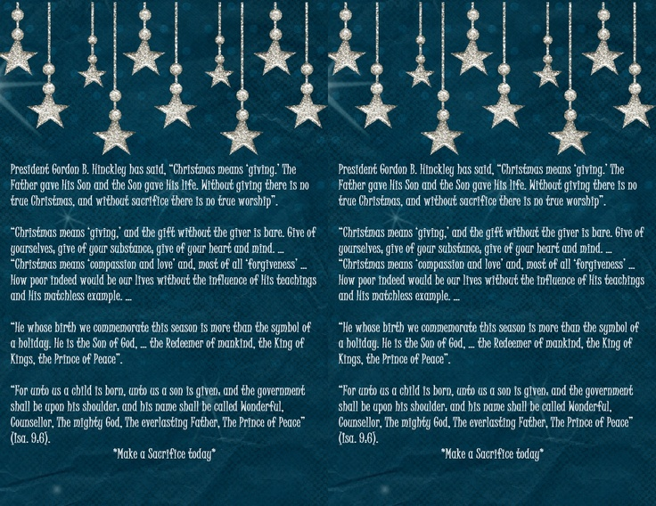 12 of Christmas LDS