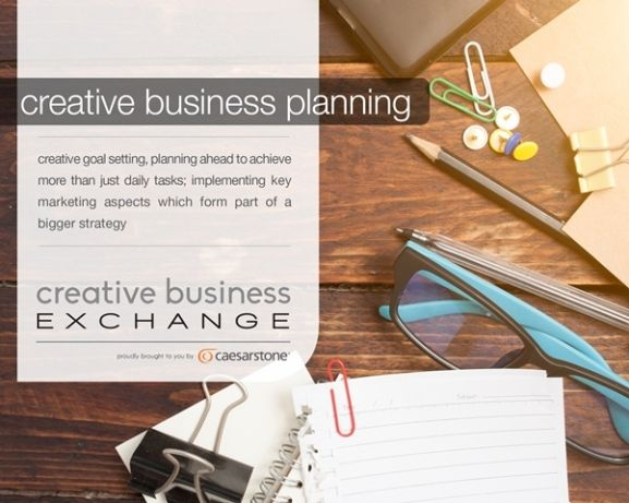 Topic of discussion at Creative Business Exchange - creative business planning & goal setting for your creative business