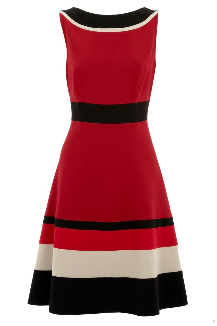 Karen Millen Fiona Colour Block Dress [#KMM017] - $83.85 :
