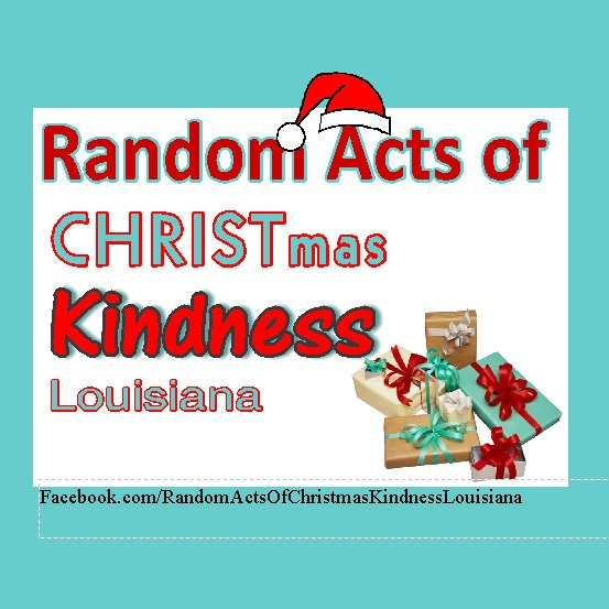 Share your ideas on facebook for Random Acts of Christmas Kindness or share photos of your random acts.