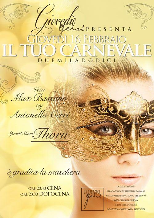 Giovedì Grasso in maschera  Il tuo carnevale a Bassano