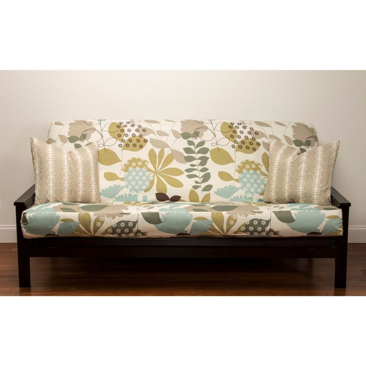 Add lively color and modern style to your living space with this full-size contemporary floral futon cover. Made from softly sueded 100-percent polyester, this machine washable futon slipcover features a three-sided zipper for your convenience.