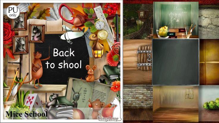 kit mice school by kittyscrap