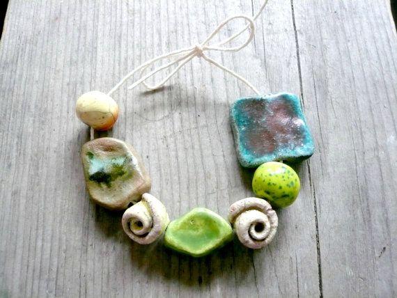 perline di ceramica perline di ceramica raku di MiaOnlyBeads