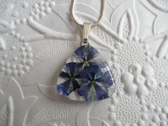 Purple & White Pinwheel Verbena Glass by giftforallseasons on Etsy