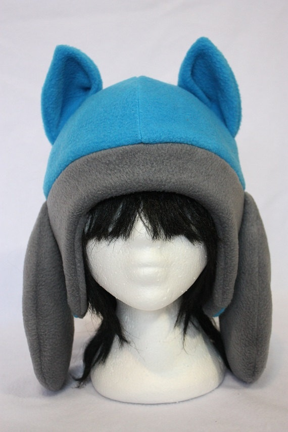 Pokemon Fleece Hat- Riolu.. $57.00, via Etsy.