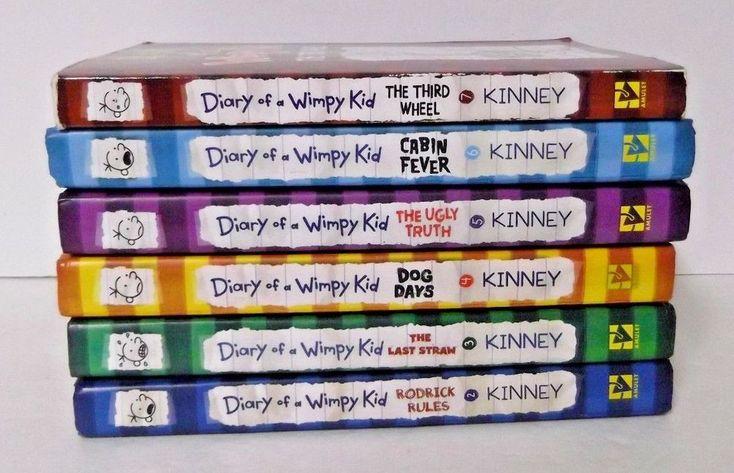 Ebay 834 pinterest lot of 6 diary of a wimpy kid books 5 hc 1 pb solutioingenieria Choice Image