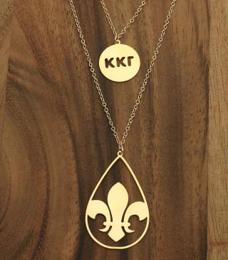 Smart greek kappa kappa gamma necklace.