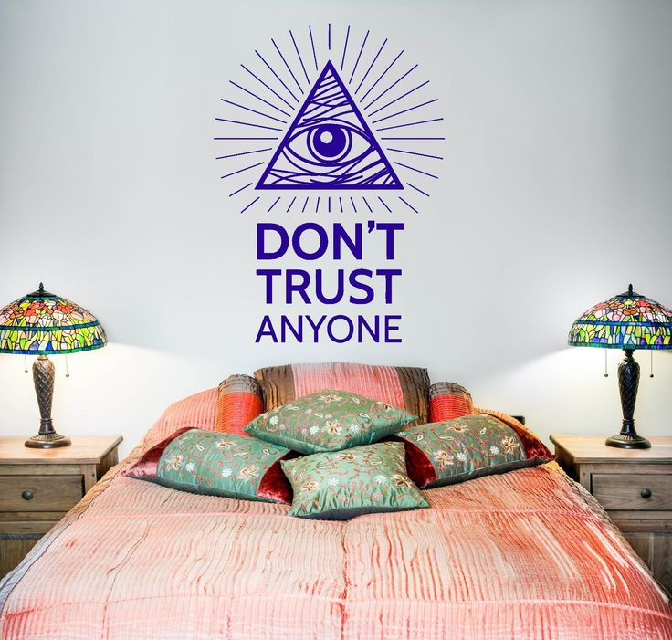 Wall Vinyl Pyramid Eye Of Providence Masons Mural Vinyl Decal (Z3373)