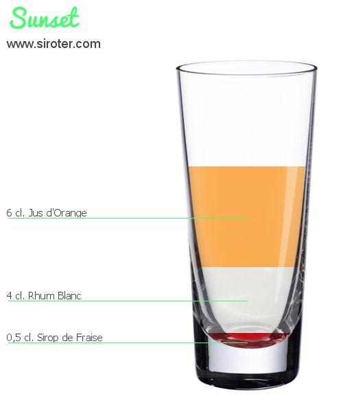 Recette Cocktail SUNSET