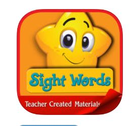 Sight Words: Kids Learn | By Teacher Created Materials (App) => Writing [Practice Words/Spelling]