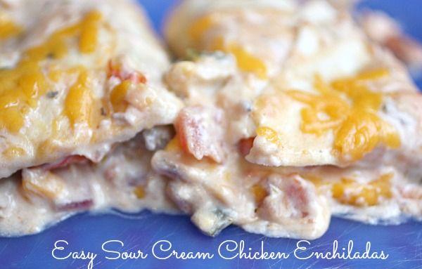 Easy Sour Cream Enchiladas - 10 Minute Dinners