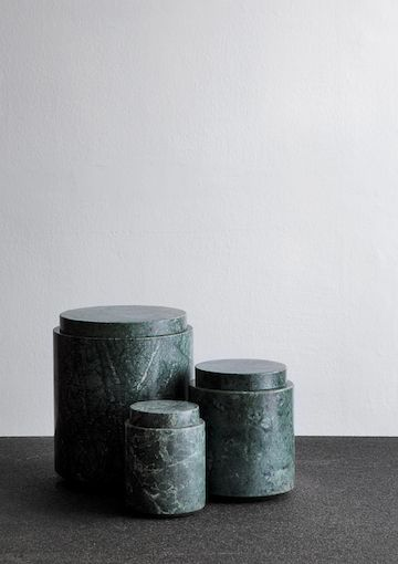 MICHAËL VERHEYDEN green marble jars
