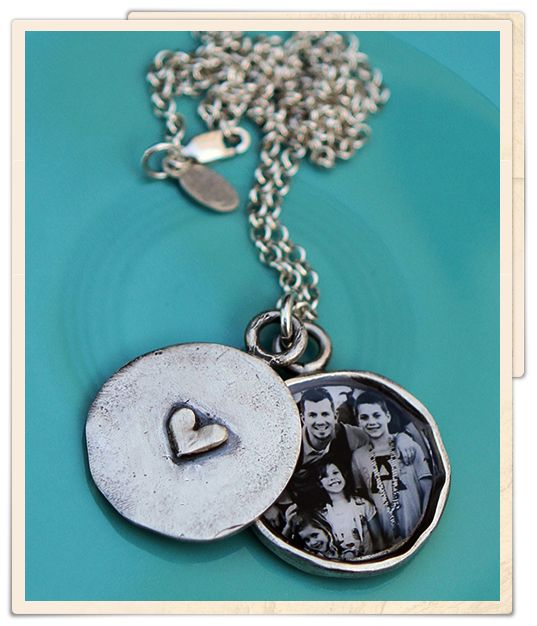 vintage locket   custom handstamped locket, created with your picture and a secret message inside, from The Vintage Pearl.