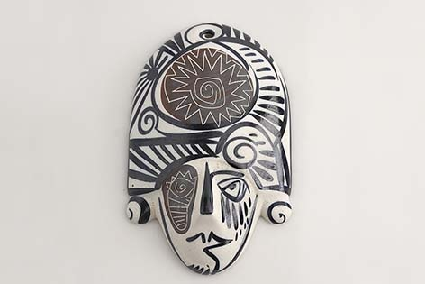 """Ceramic mask """"Peliqueiro"""" (Galician carnival character). Handmade by galician potters. Artcraft of The Way of St.James. Tax free $27.90"""