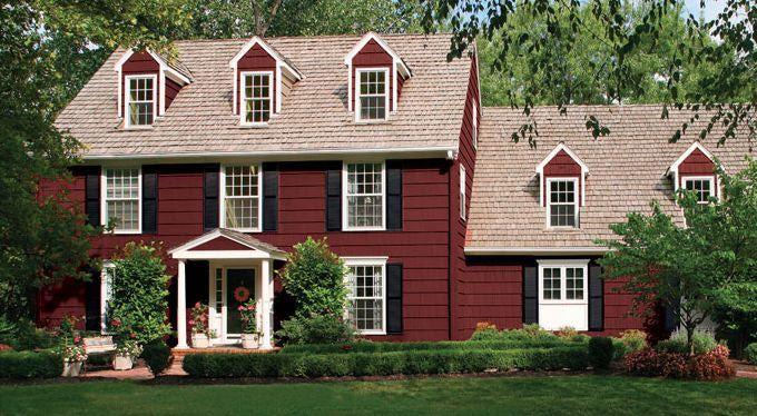 Red+Exterior+Home+Paint+Ideas | Exterior Paint Ideas - Farmhouse Style House Colors