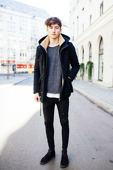 A Kind Of Guise Parka, A Kind Of Guise Jumper, Acne Studios Acne Tee, Acne Studios Acne Jeans