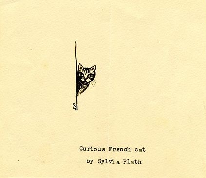 """Curious Cat"" Sylvia Plath's Drawings 