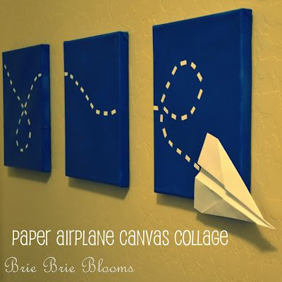DIY Paper Airplane Canvas Collage