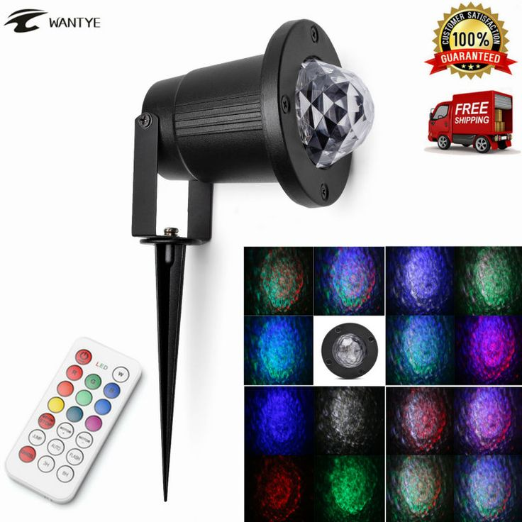 IR Remote Disco Stage Light LED Water Wave Ripple Stage Effect Light IP65 Waterproof Laser projector Outdoor Lawn lamp