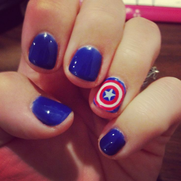 My Captain America nails!!                                                                                                                                                                                 More