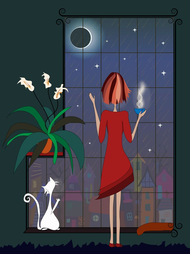 Tea and sympathy in the eclipse rain