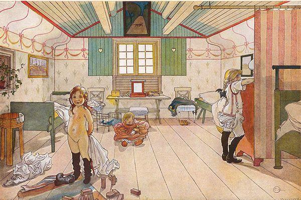 Картина дня: «Комната няни и маленьких девочек», Карл Ларсон