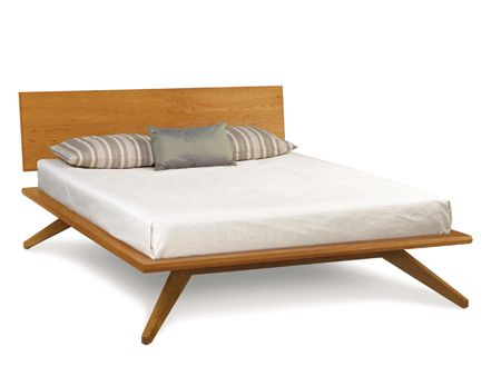 cherry mid-century bed-sustainable hardwood furniture | www.thosbaker.com